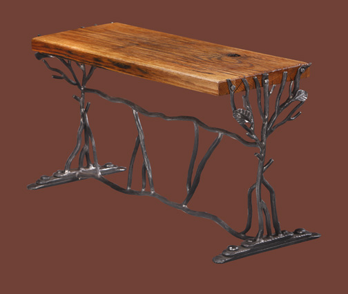 custom-wrought-iron-oak-bench