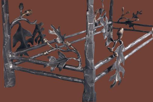 wrought-iron-leaves-oak-table-closeup