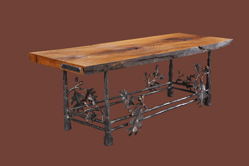wrought-iron-leaves-oak-table