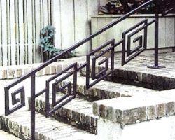 Front Doorway Entrance Greek Key Stair Hand Railing