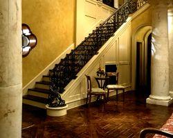 Tuscan Style Beach Villa Grand Staircase Railing