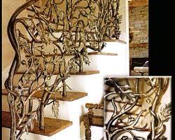 Acorn and Oak Leaf Staircase Railing