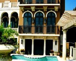 Tuscan Style Beach Villa Exterior Balcony Railings