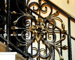 Traditional Gilded Rose Stair Railing