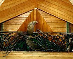 Hunting Lodge Brays Island, SC Upstairs Balcony Railing