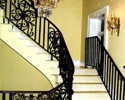 Grand Staircase Railing Private Residence on Amelia Island, FL