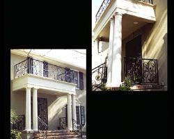 Savannah GA Ardsley Park Residence Exterior Balcony and Stair Railings