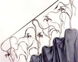 Art Nouveau Iris Stair Railing